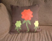 Ready to Ship.  Flower Patch Pillow Cover