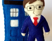 Dr. Who Tenth Doctor and Tardis Felties