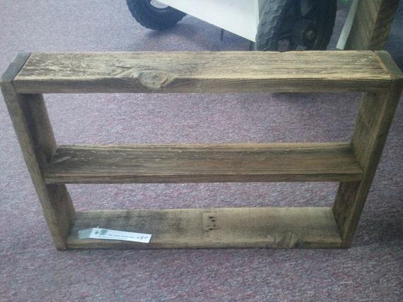 small barnwood shelf