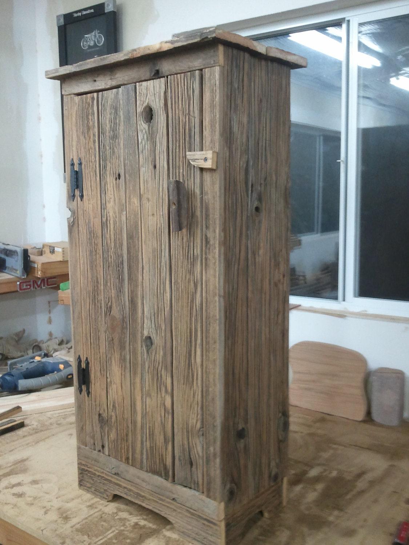 Barnwood Jelly Cabinet