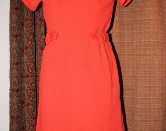 Bold Red-Orange Dress