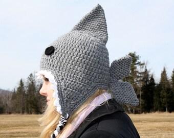 Crochet Shark Hat/Ready to Ship