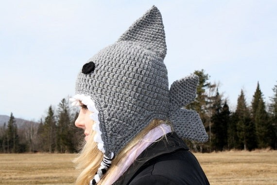 Crochet Shark Hat/Ready to Ship