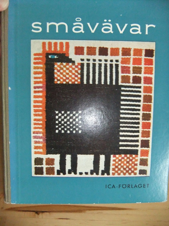 RESERVED SALE Vintage Swedish Crafting Book Small weave