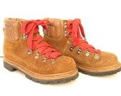 Hiking Boots With Red Laces Size 6.5