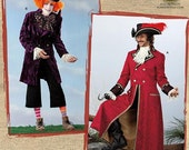 Simplicity Costume Sewing Pattern 0806 (aka 2333) - Mad Hatter & Captain Hook (XS-M, L-XL)