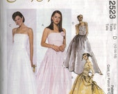 "McCall's ""Evening Elegance"" Sewing Pattern 2523 - Misses' Lined Dresses (4-8, 10-14, 12-16)"