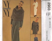 McCall's Sewing Pattern 2903 - Misses' Dress, Cowl & Capelet (4-8, 8-12, 10-14, 12-16)