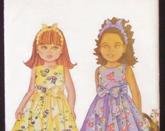 Butterick Sewing Pattern 6488 - Girls' Dress & Headband (2-5)