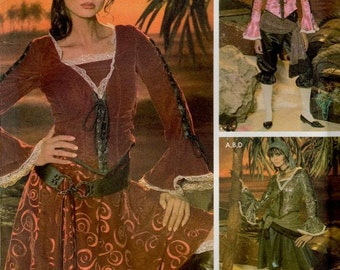 Simplicity Costume Sewing Pattern 0509 (aka 4914) - Misses' Pirate Costumes (6-12)