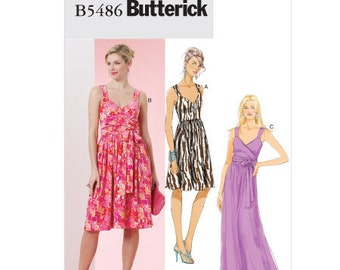 Butterick Sewing Pattern B5486 - Misses' Dresses (16-22)