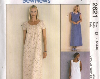 McCall's Sewing Pattern 2621 - Misses' Dress or Jumper (8-12, 10-14, 12-16, or 16-20)
