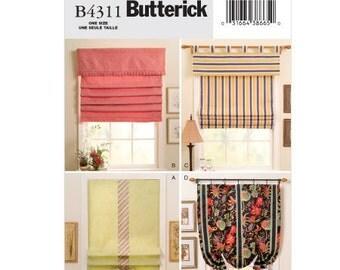 Butterick Sewing Pattern B4311 - Window Shades