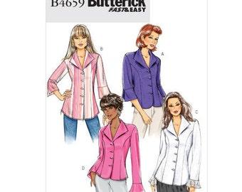 Butterick Sewing Pattern B4659 - Misses' & Miss Petite Shirts (8-14, 16-22)