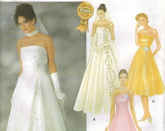 Simplicity Sewing Pattern 7068: Misses' Wedding Dress in Two Lengths (6-12, 14-20)