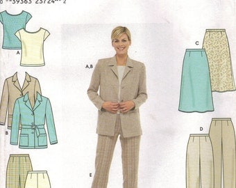 Simplicity Sewing Pattern 9081 - Misses' Jacket, Skirt, Pants, & Knit Top (6-12)