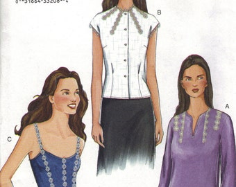 Vogue Sewing Pattern 7430 - Misses' Blouse (8-12, 14-18)