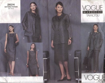Vogue Sewing Pattern 2624 - Misses' Jacket, Dress, Top, Skirt & Pants (8-12)