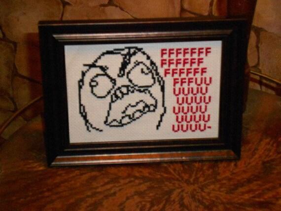 Rage Guy Cross Stitch