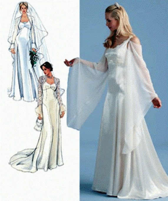 Renaissance Wedding Dresses Plus Size: Simplicity Sewing Pattern 4777: Misses' Wedding Dress
