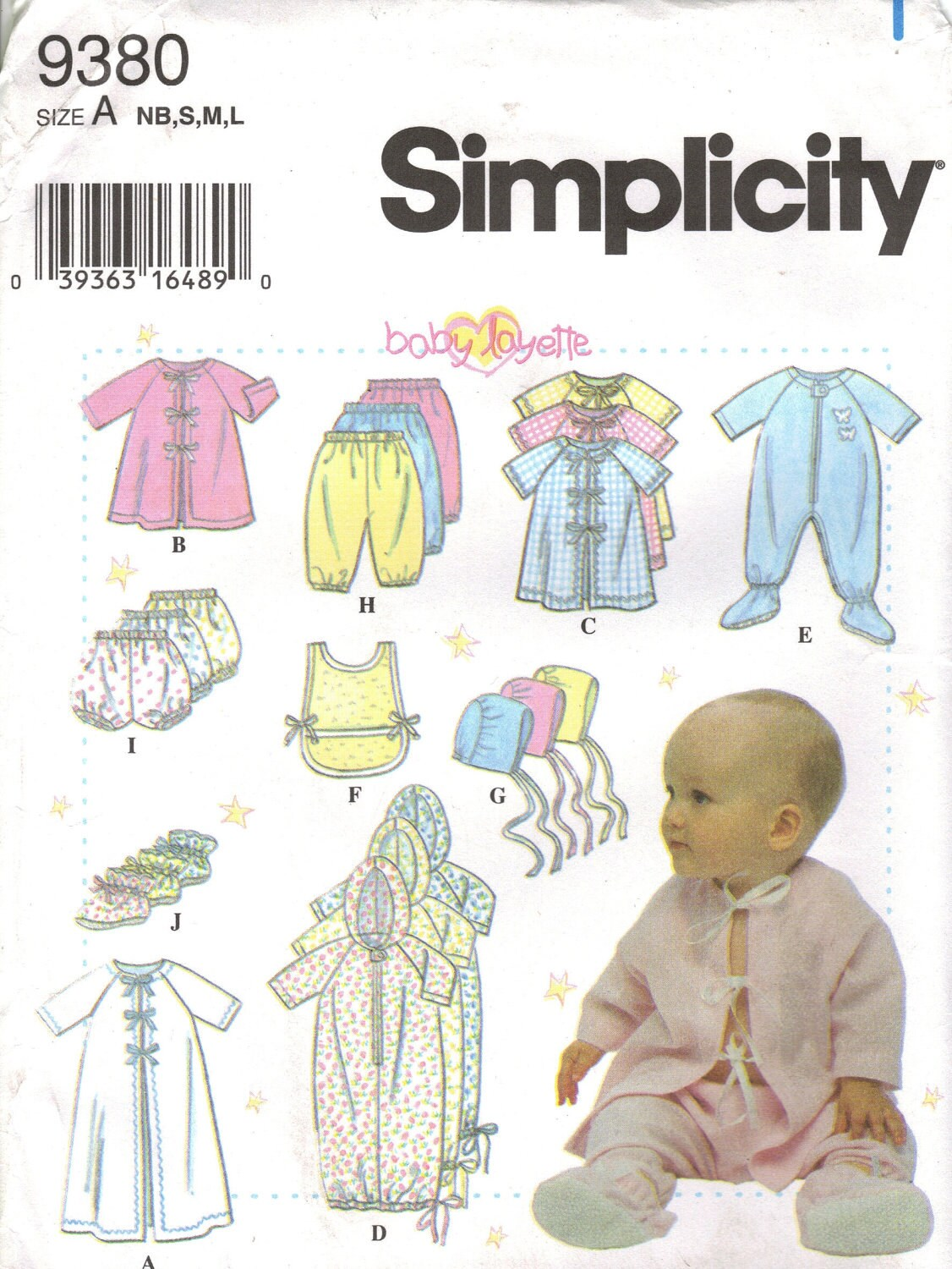 Simplicity Sewing Pattern 9380 Infant Amp Baby Clothes By