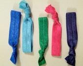 Set of 5 Elastic Hair Ties - profit will go to building schools in Nicaragua
