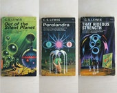 Reserved - C S Lewis Space Trilogy  3 Vintage Paperback Books - Out of the Silent Planet, Perelandra, That Hideous Strength