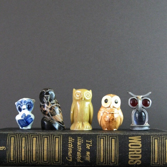 Vintage Owl Figurines - Instant Collection