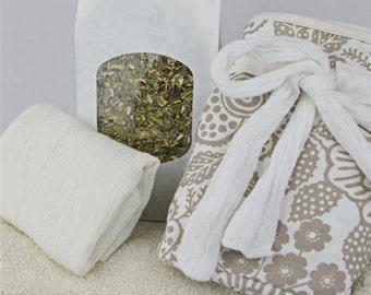 Cotton Print Lotus Birth Kits - Lined