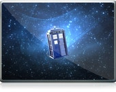 "GEL Laptop 13"" 15"" 17"" Skin Cover - Tardis Doctor Who Police Call Box"