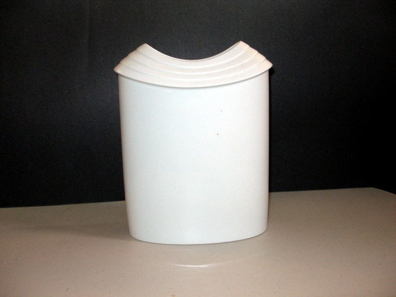 "Vintage ROSENTHAL White Bisque VASE, 9"" Tall, Signed Studio Linie Germany,  British Designer James Kirkwood Porcelain"