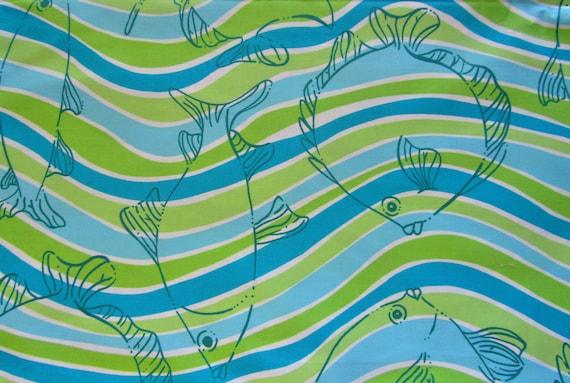 Makin Waves cotton twill  18 X 20 Lilly Pulitzer signature fabric