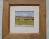 """ABSTRACT LANDSCAPE PICTURE  """"Fields of Gold"""".  A textile impression of  meadows in spring."""