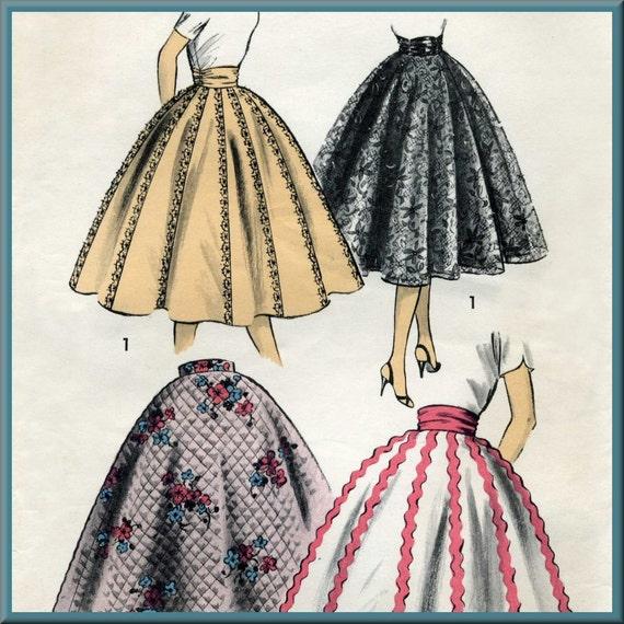 50s, Circle Skirt, Sewing Pattern - Advance 7951