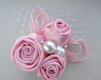 Flower Clip- Vintage Inspired Headpiece- Flower Girl Fascinator-All ages Headband Photo Prop