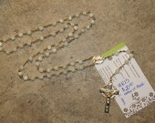Mother of Pearl Rosary, Custom Order for Nacholescrafts