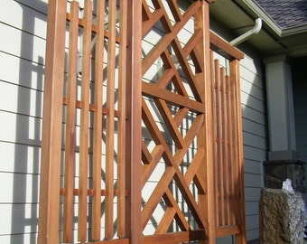 Wall Trellis, Chippendale Style, Clear Western Red Cedar