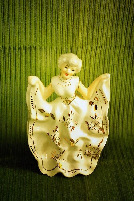 Vintage Fancy Lady / Woman Statue, Figurine