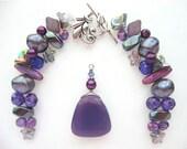 Tuscan Wine Pendant Jewelry Making Bead Kit Clasp