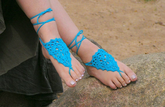 Barefoot sandals crochet pdf pattern diy instructions by for Thread pool design pattern
