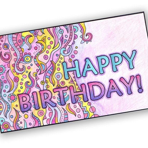 Items Similar To Printable Happy Birthday Card
