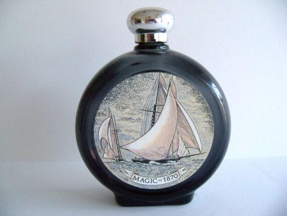 Vintage 80's Old Spice Commerative Ship After Shave Flask Decanter