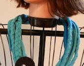 RePurPosed TShirt NeckLace Turquoise/Black