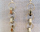 Industrial Chic Hex Nut Earrings - Upcycled Jewelry