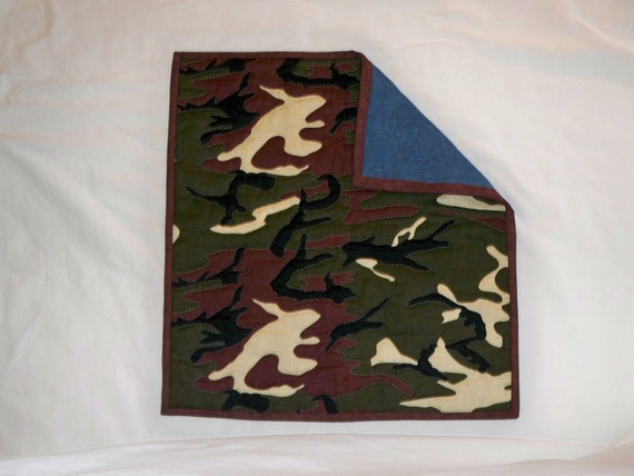 "Camo Print Changing Pad, Rustic Changing Pad, Infant Changing Pad, Baby Changing Pad, Quilted Changing Pad, Baby Care, 19"" x 20 1/2 """