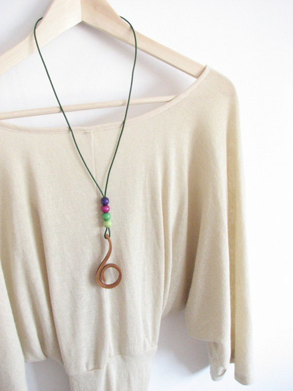 Necklace inspired by nature. Grapevine