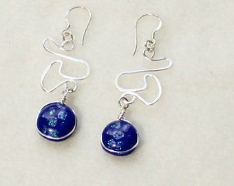 Dichroic Earrings  170