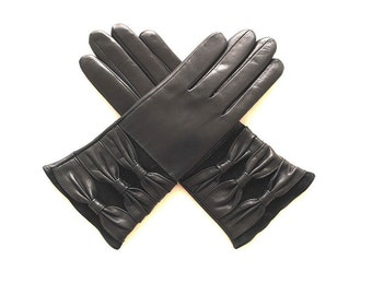 Women's leather gloves (9125-001). Different Sizes.