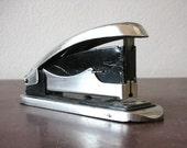 Vintage metallic stapler