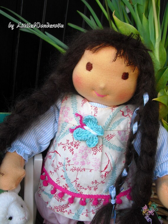 OOAK 13 inch handmade Waldorf Doll Cloth Doll human figure doll